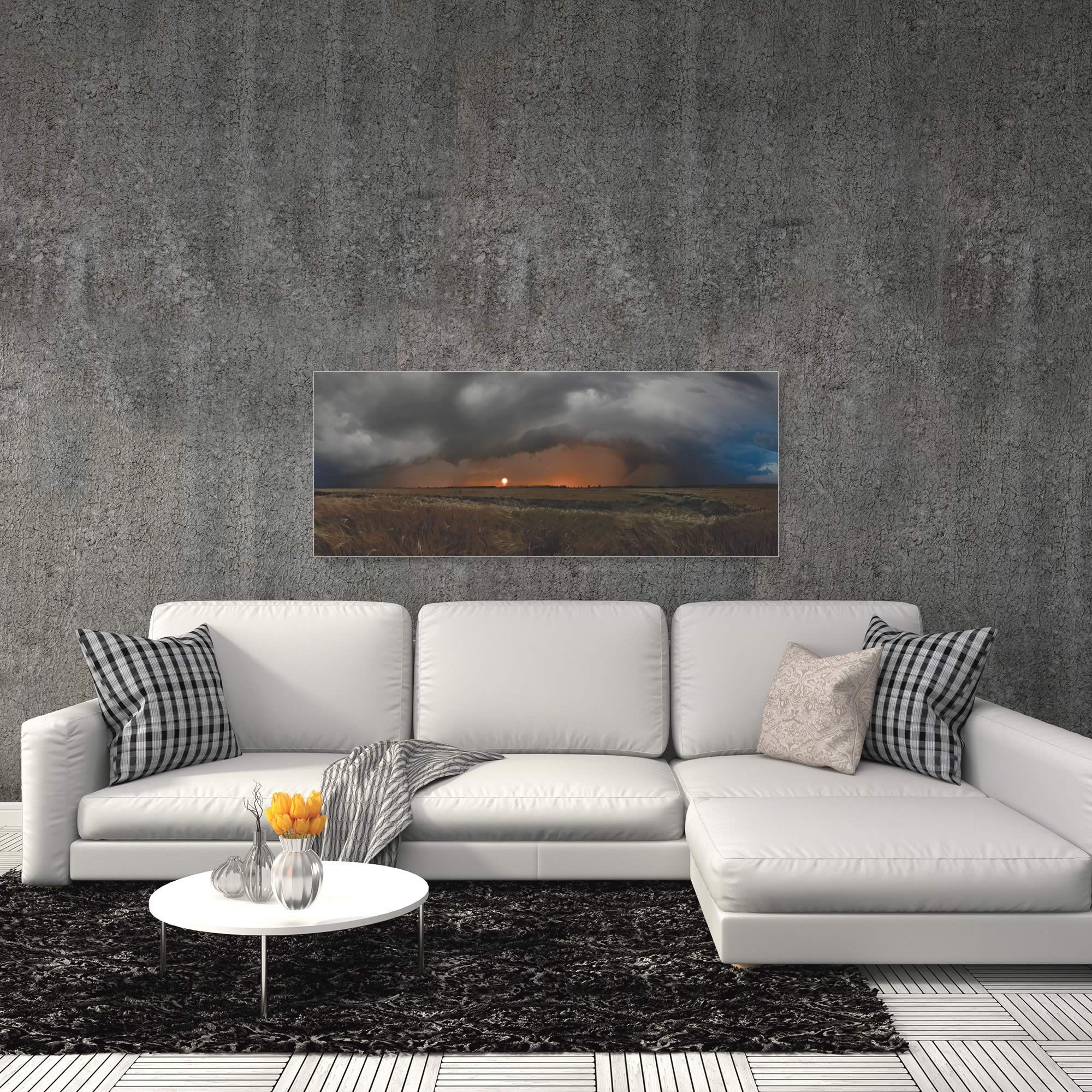 Plains of Fury by Franz Schumacher - Storm Pictures on Metal or Acrylic - Alternate View 1