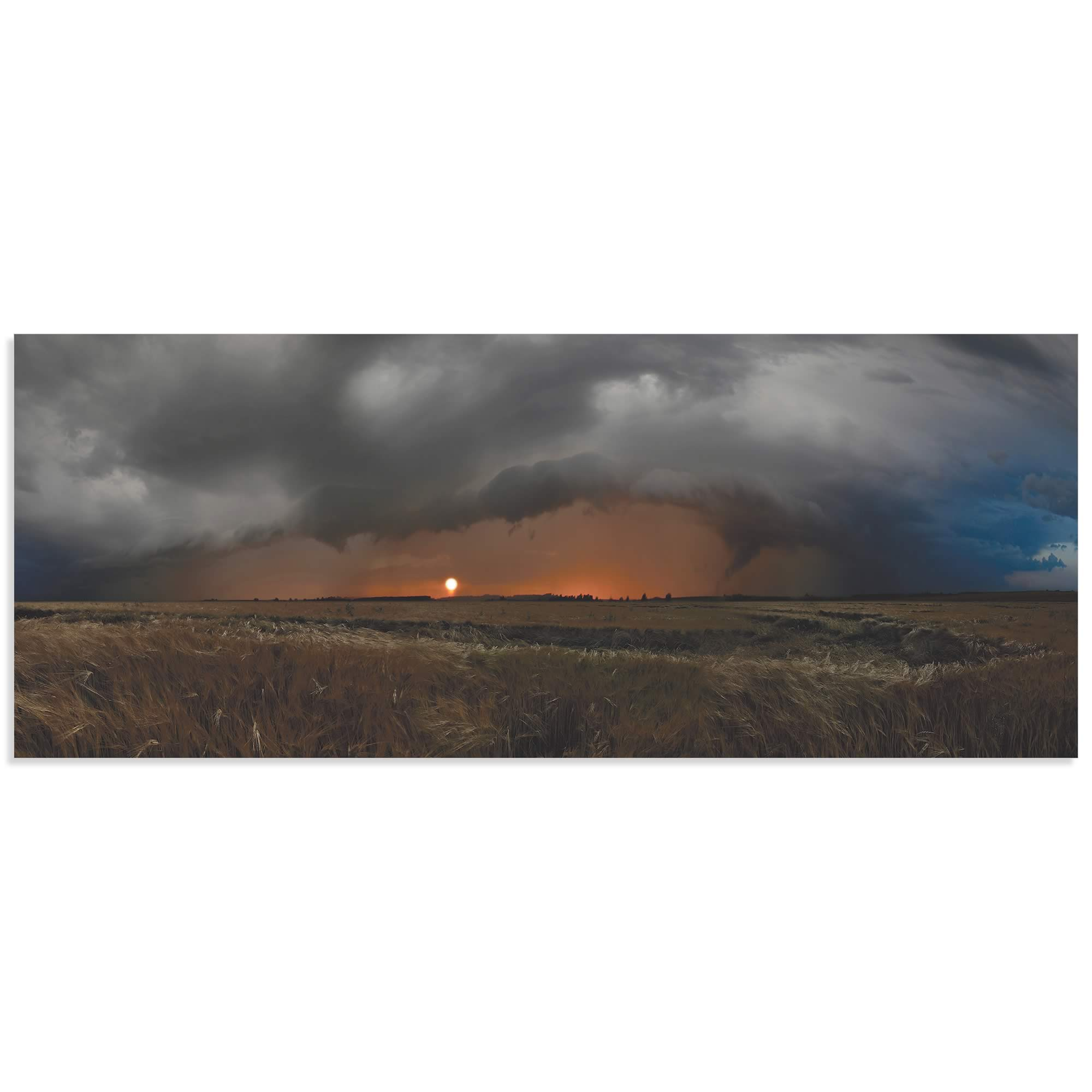 Plains of Fury by Franz Schumacher - Storm Pictures on Metal or Acrylic