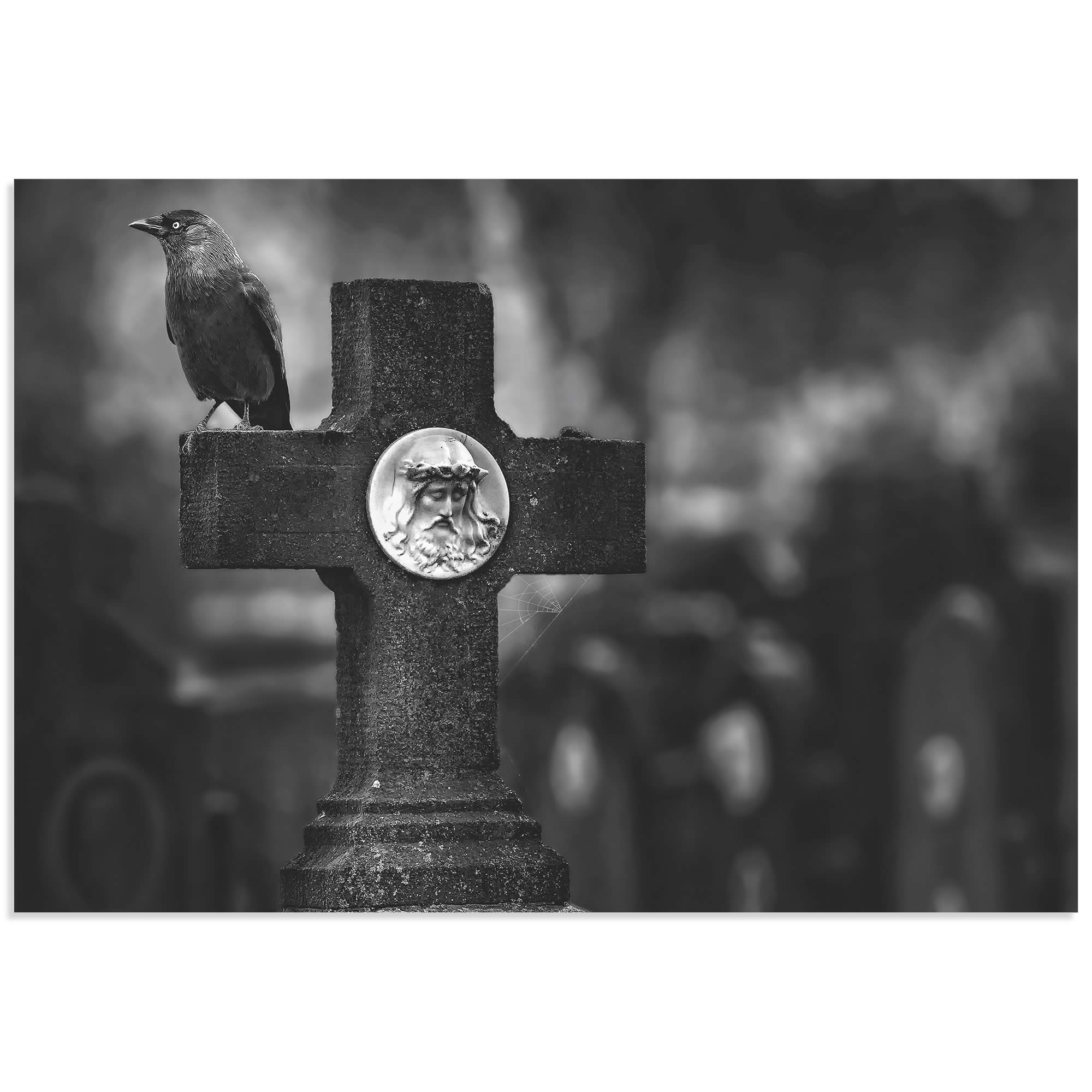 Another Year Has Gone by Piet Flour - Cemetery Art on Metal or Acrylic