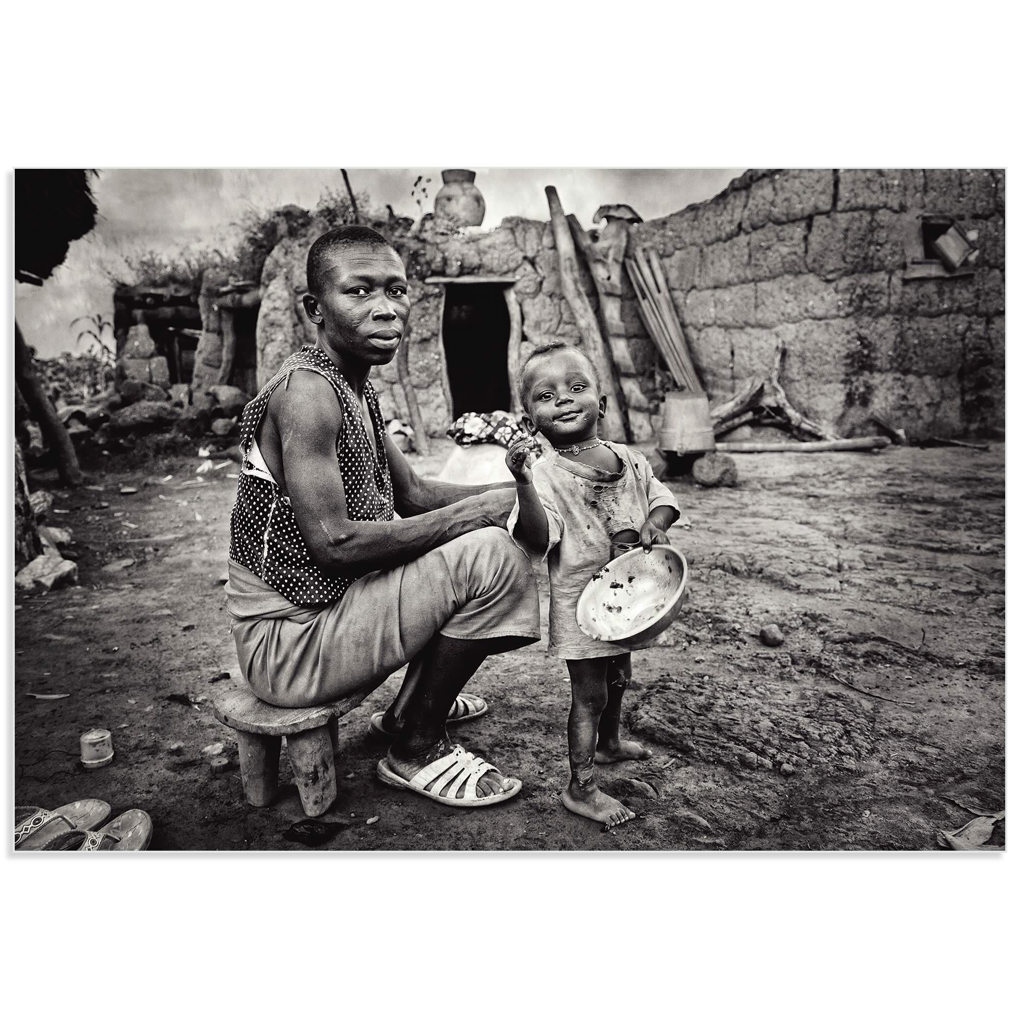 Lobi Village by Manuel Vilches - African Family Art on Metal or Acrylic - Alternate View 2