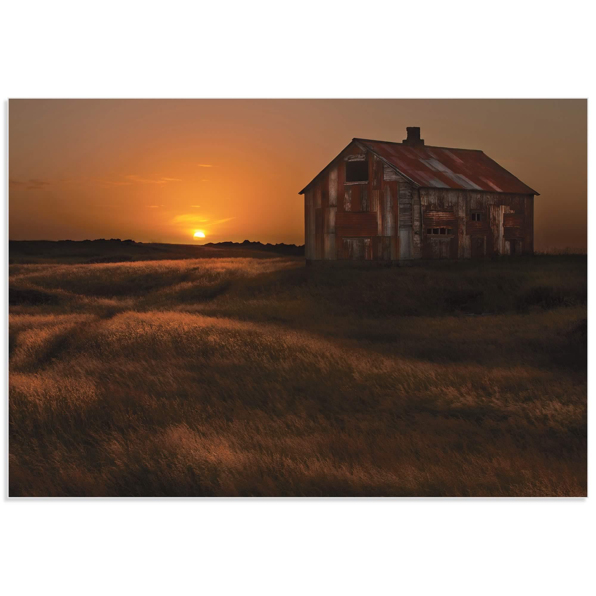 September Barn by Bragi Ingibergsson - Rustic Decor on Metal or Acrylic - Alternate View 2