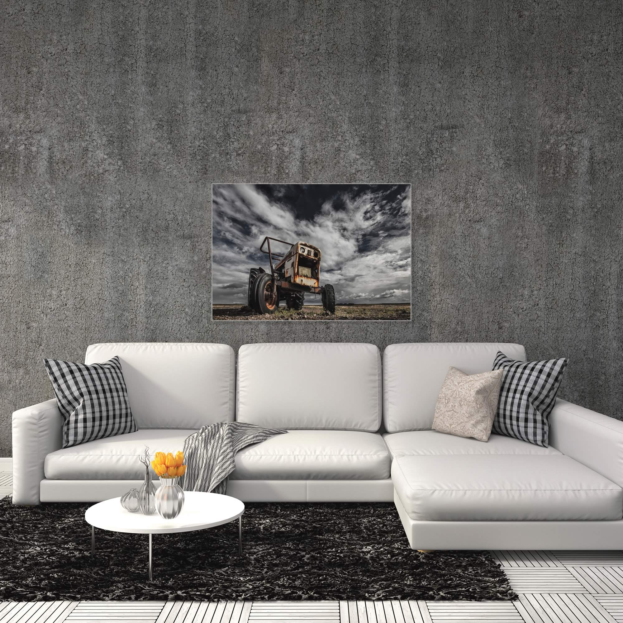 The Tractor Scream by Bragi Ingibergsson - Industrial Art on Metal or Acrylic - Alternate View 3