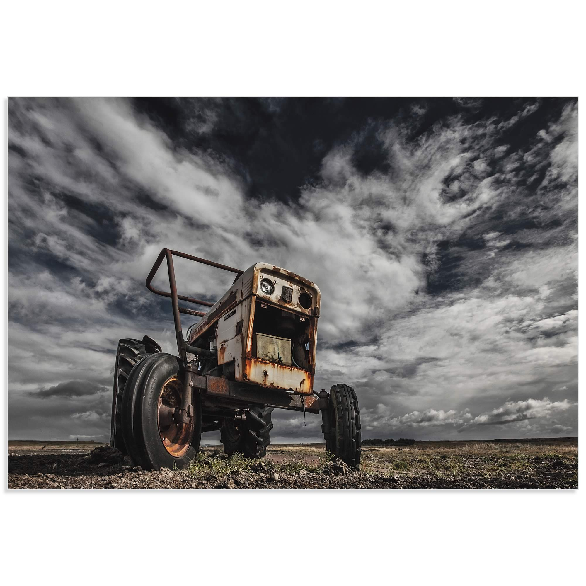 The Tractor Scream by Bragi Ingibergsson - Industrial Art on Metal or Acrylic - Alternate View 2