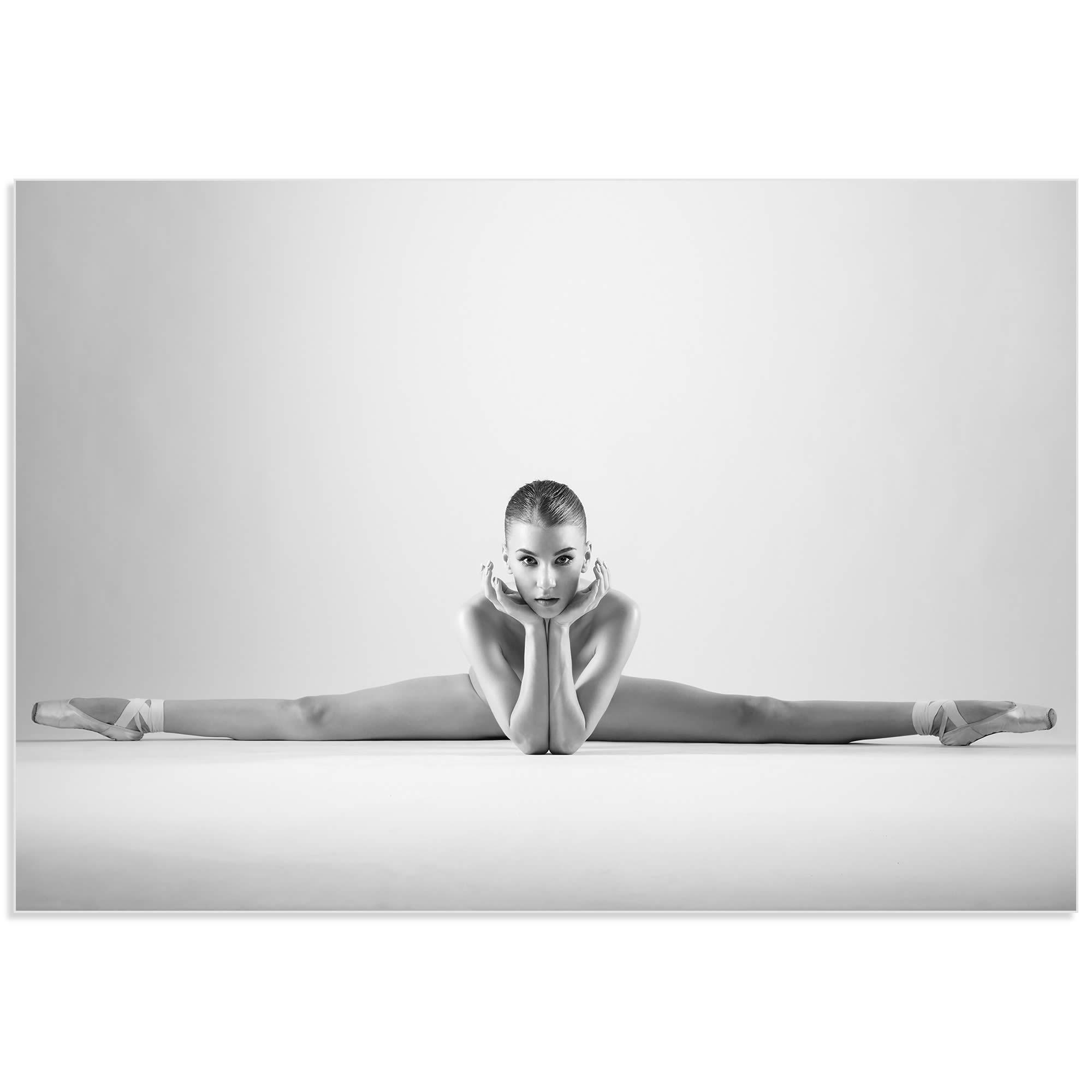 Ballerina Splits by Arkadiusz Branicki - Classy Nude Photography on Metal or Acrylic - Alternate View 2