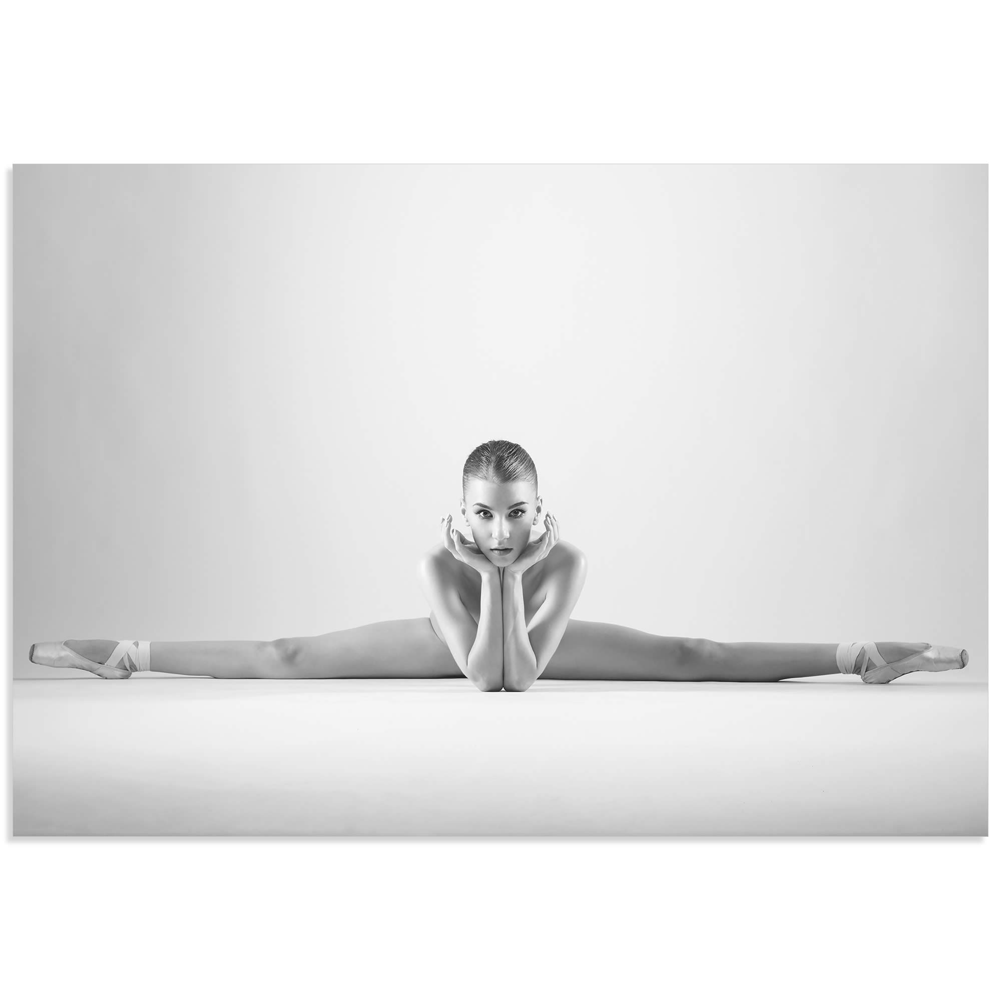 Ballerina Splits by Arkadiusz Branicki - Classy Nude Photography on Metal or Acrylic