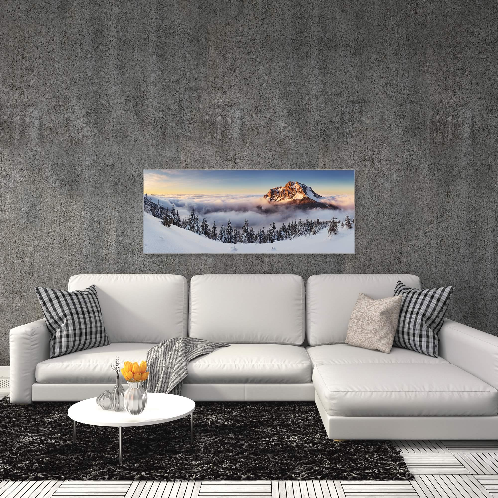 Golden Peak by Tomas Sereda - Snowy Mountains Art on Metal or Acrylic - Alternate View 3