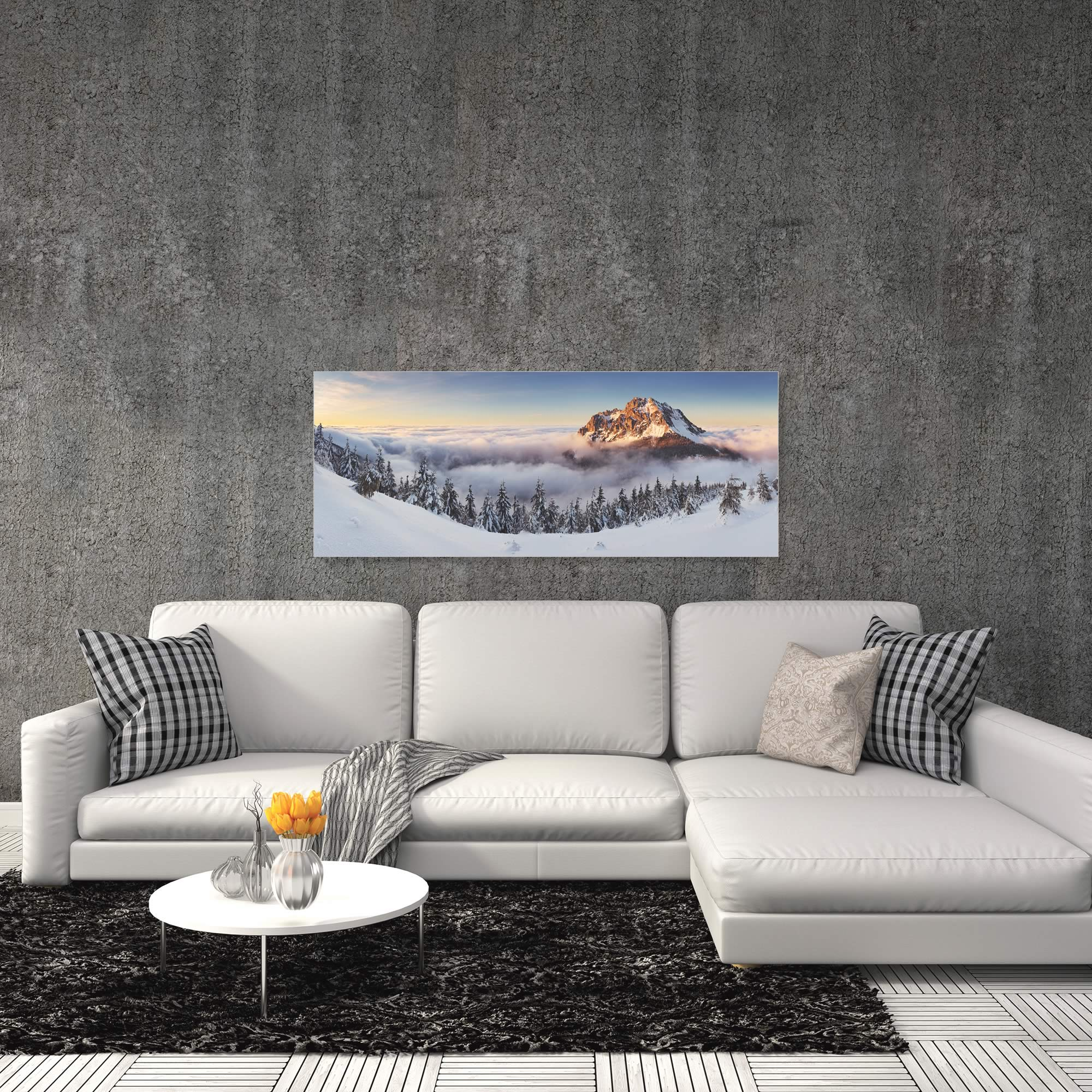 Golden Peak by Tomas Sereda - Snowy Mountains Art on Metal or Acrylic - Alternate View 1