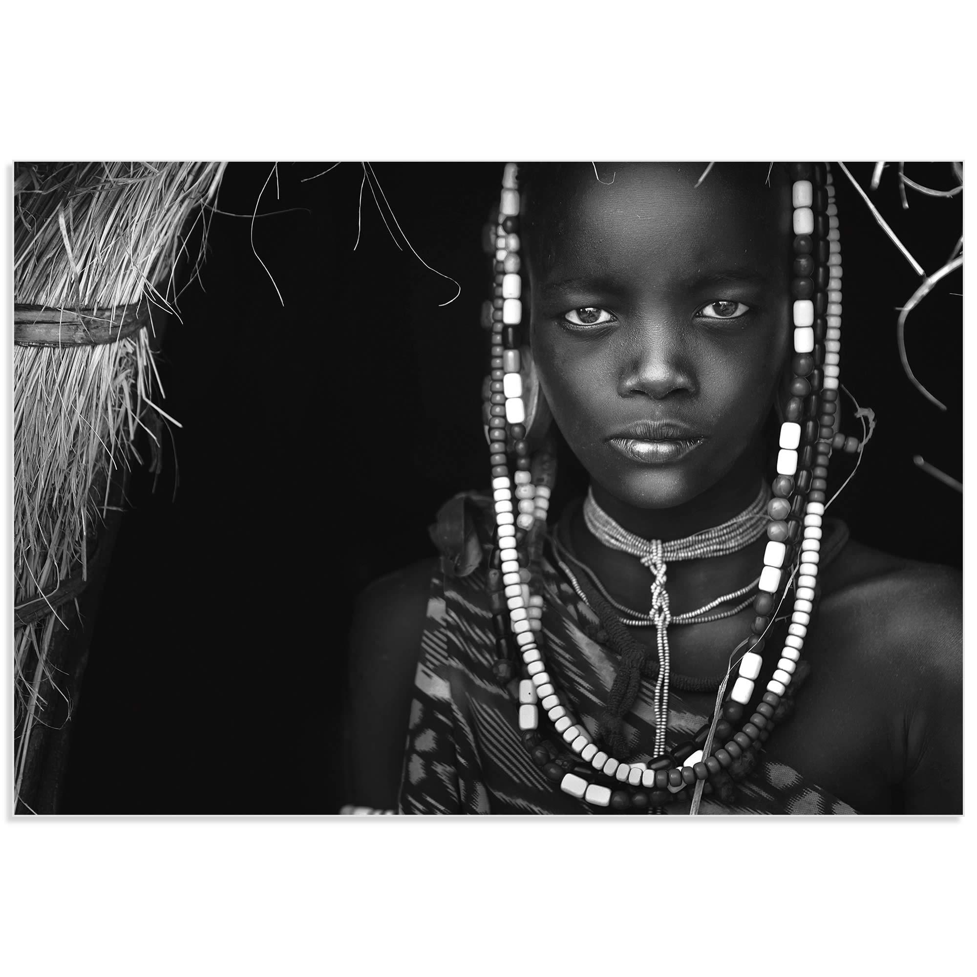 Mursi Girl by Hesham Alhumaid - African Fashion Art on Metal or Acrylic - Alternate View 2