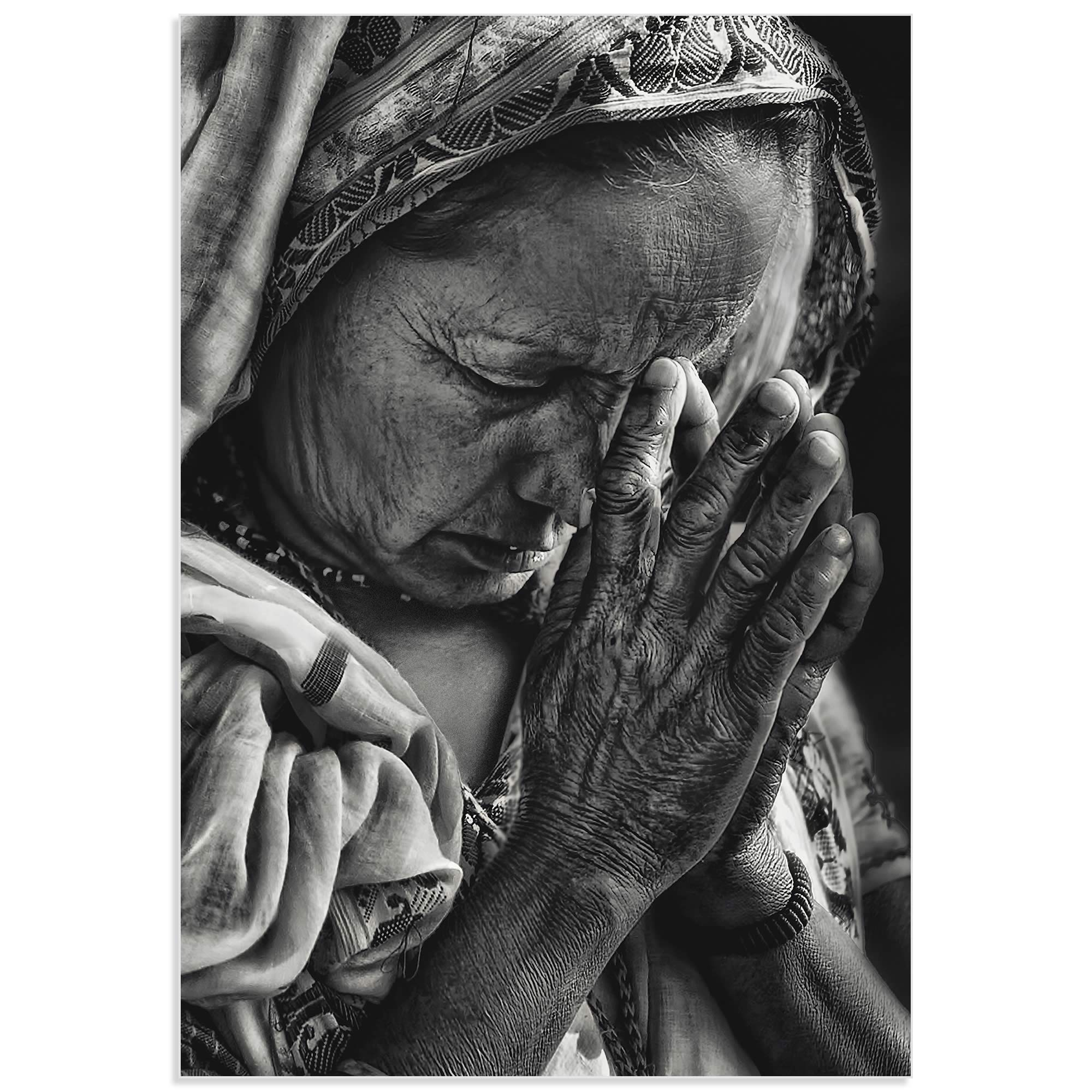 Prayers by Piet Flour - Hindu Prayer Art on Metal or Acrylic - Alternate View 2