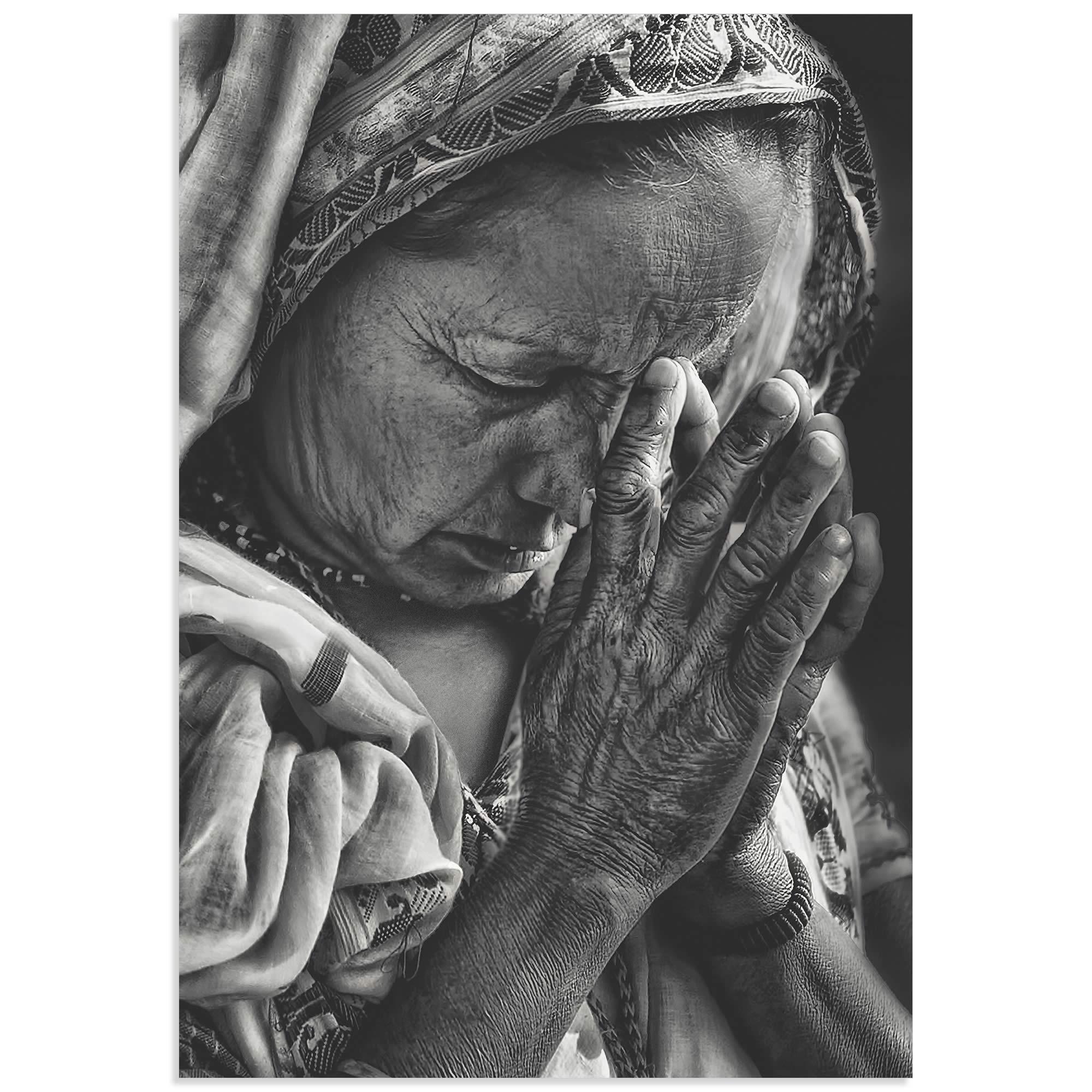 Prayers by Piet Flour - Hindu Prayer Art on Metal or Acrylic