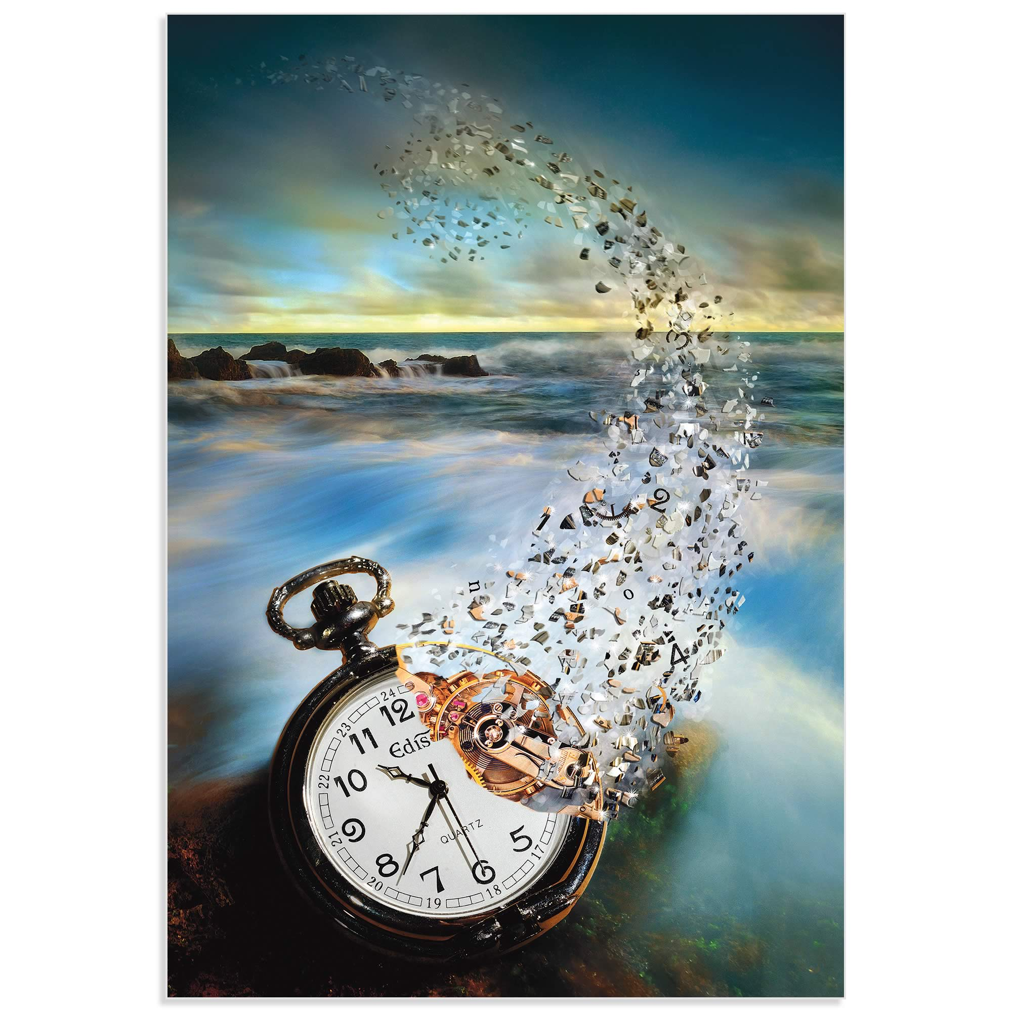 The Vanishing Time by Sandy Wijaya - Steam Punk Art on Metal or Acrylic - Alternate View 2