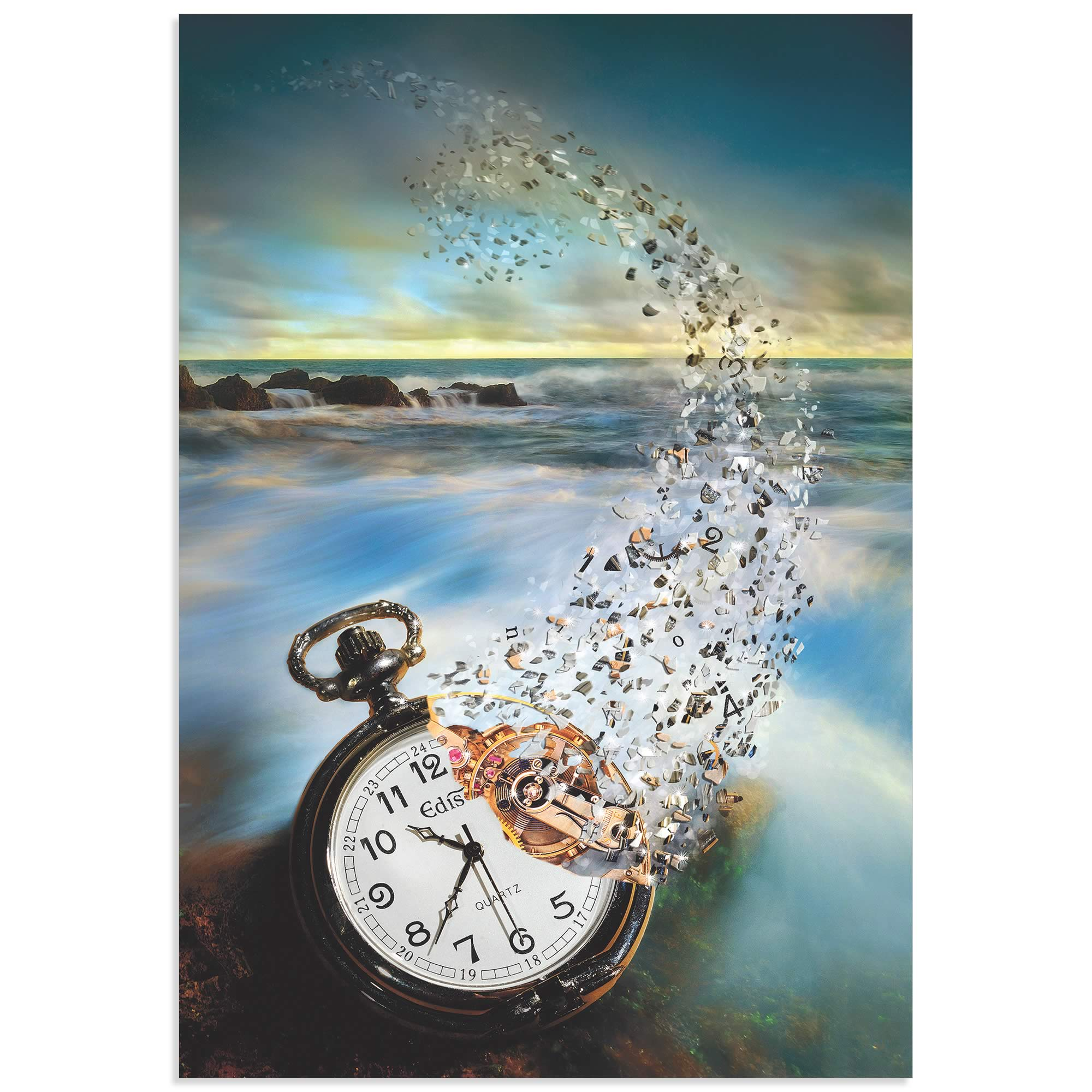 The Vanishing Time by Sandy Wijaya - Steam Punk Art on Metal or Acrylic