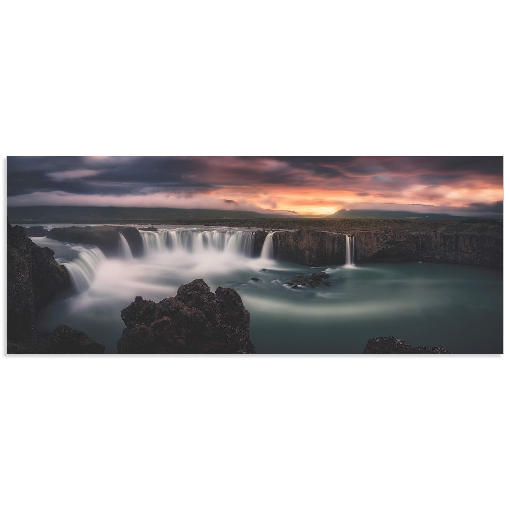 Fire and Waterfalls by Stefan Mitterwallner - Waterfall Image on Metal or Acrylic