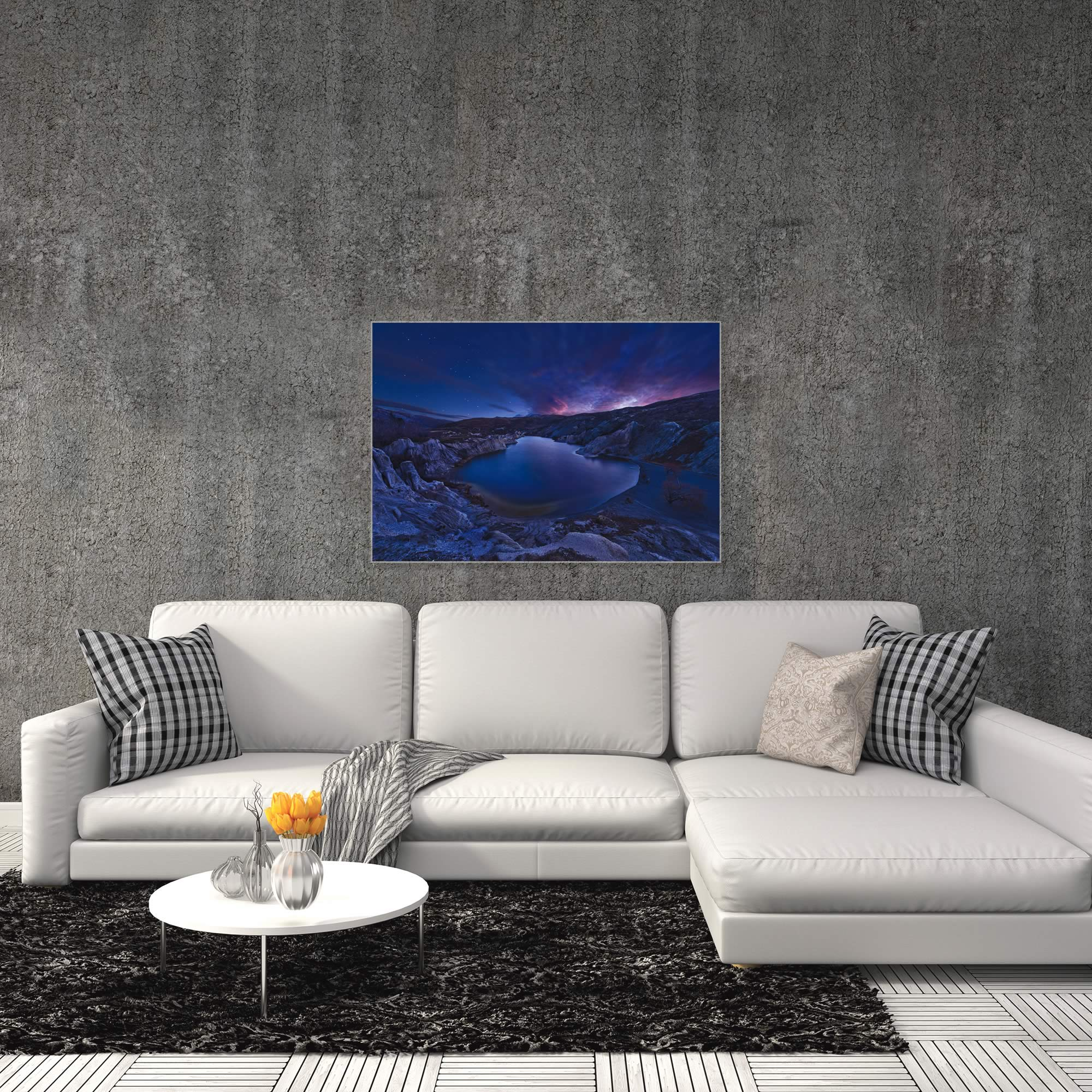 Blue Lake by Yan Zhang - Water Art on Metal or Acrylic - Alternate View 3