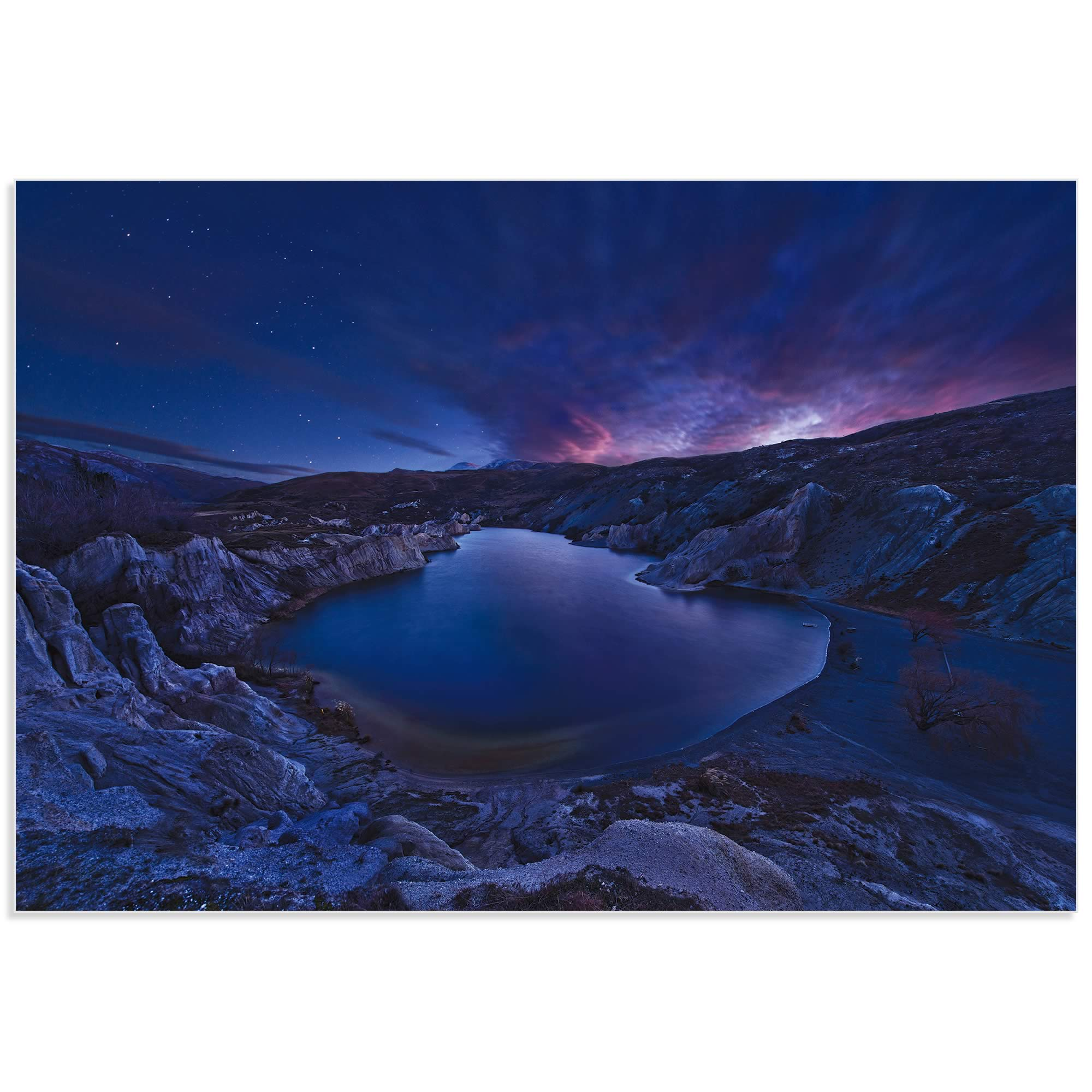 Blue Lake by Yan Zhang - Water Art on Metal or Acrylic - Alternate View 2