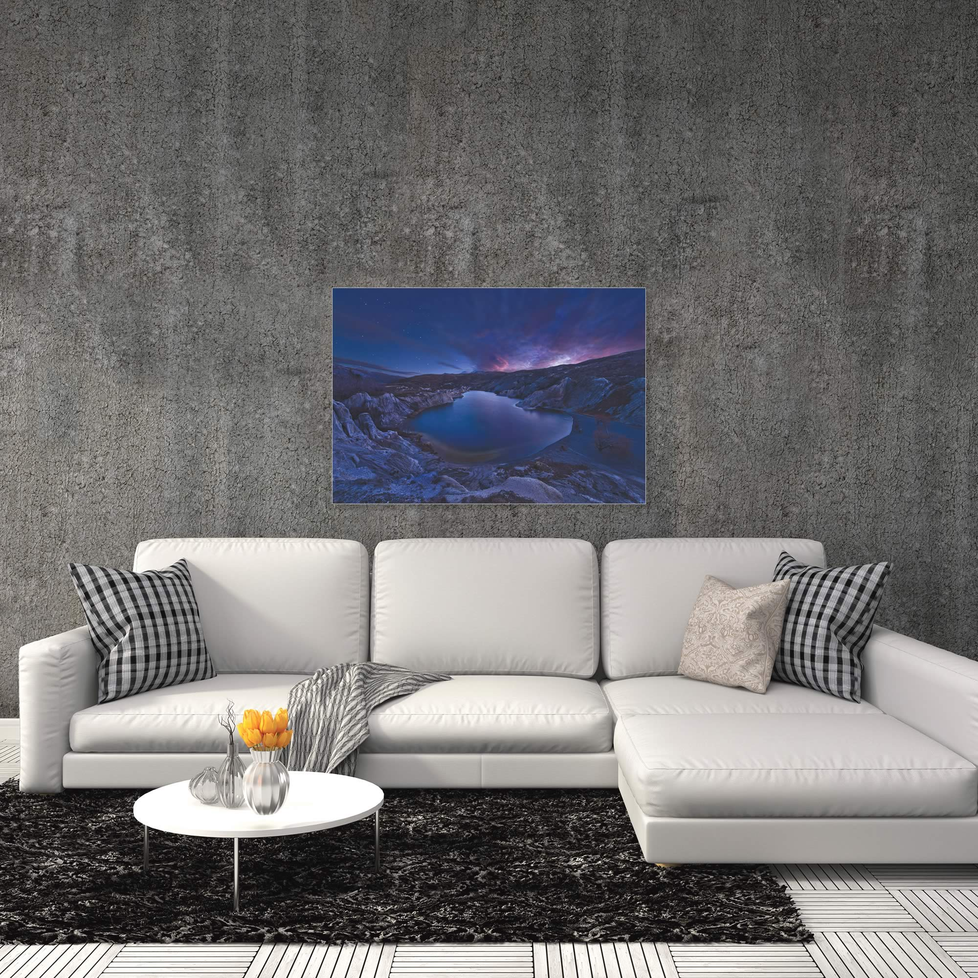 Blue Lake by Yan Zhang - Water Art on Metal or Acrylic - Alternate View 1