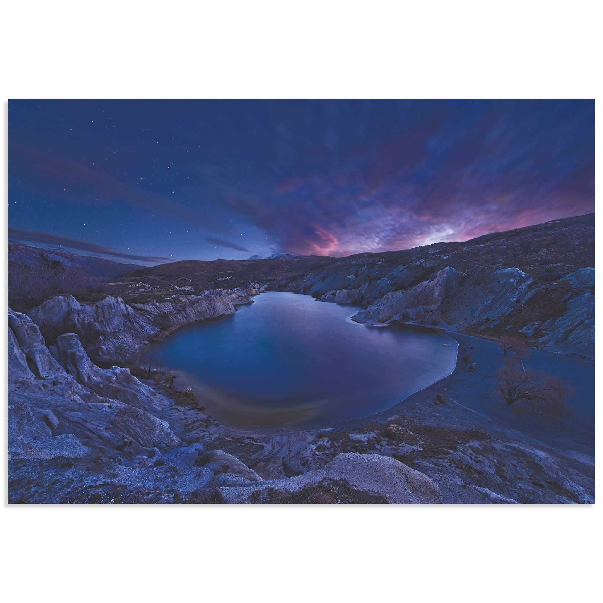 Blue Lake by Yan Zhang - Water Art on Metal or Acrylic