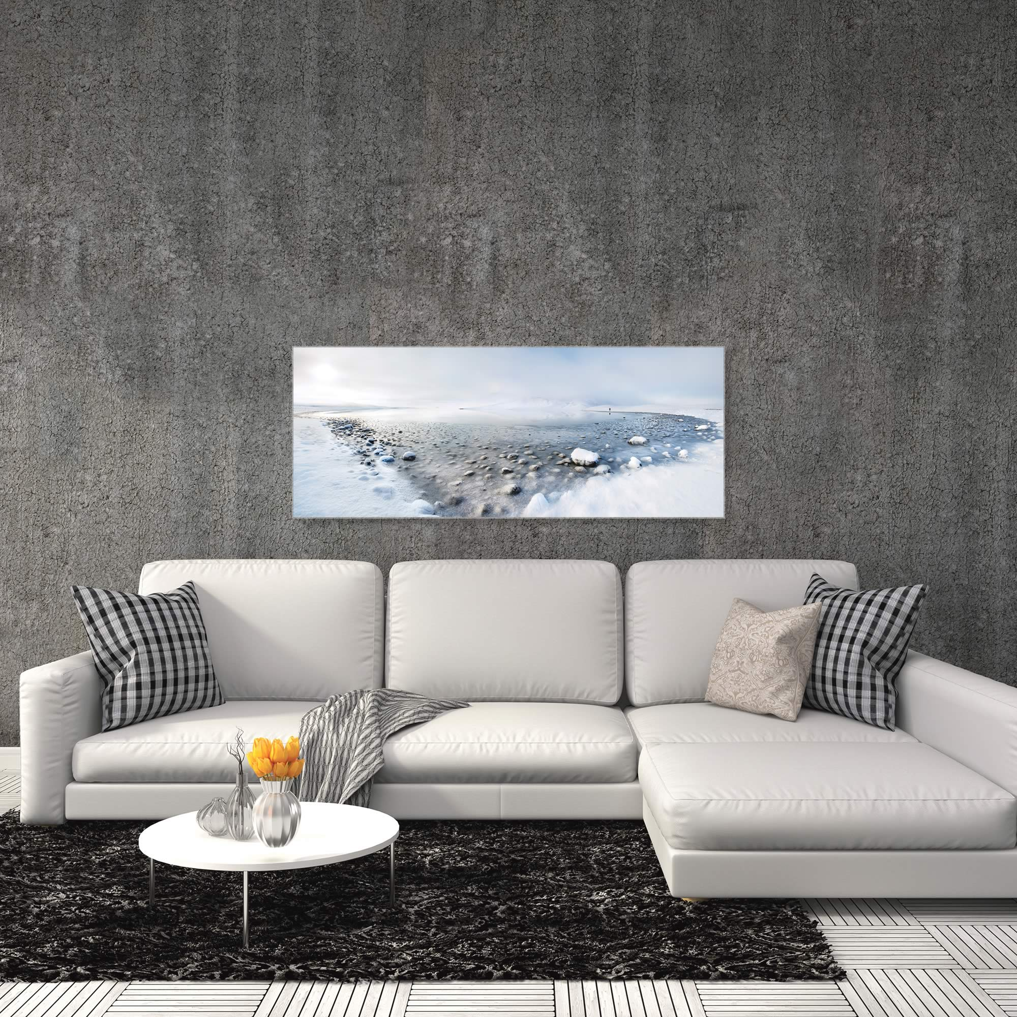 Alone in the Silence by Nicola Molteni - Snowy Landscape Art on Metal or Acrylic - Alternate View 3
