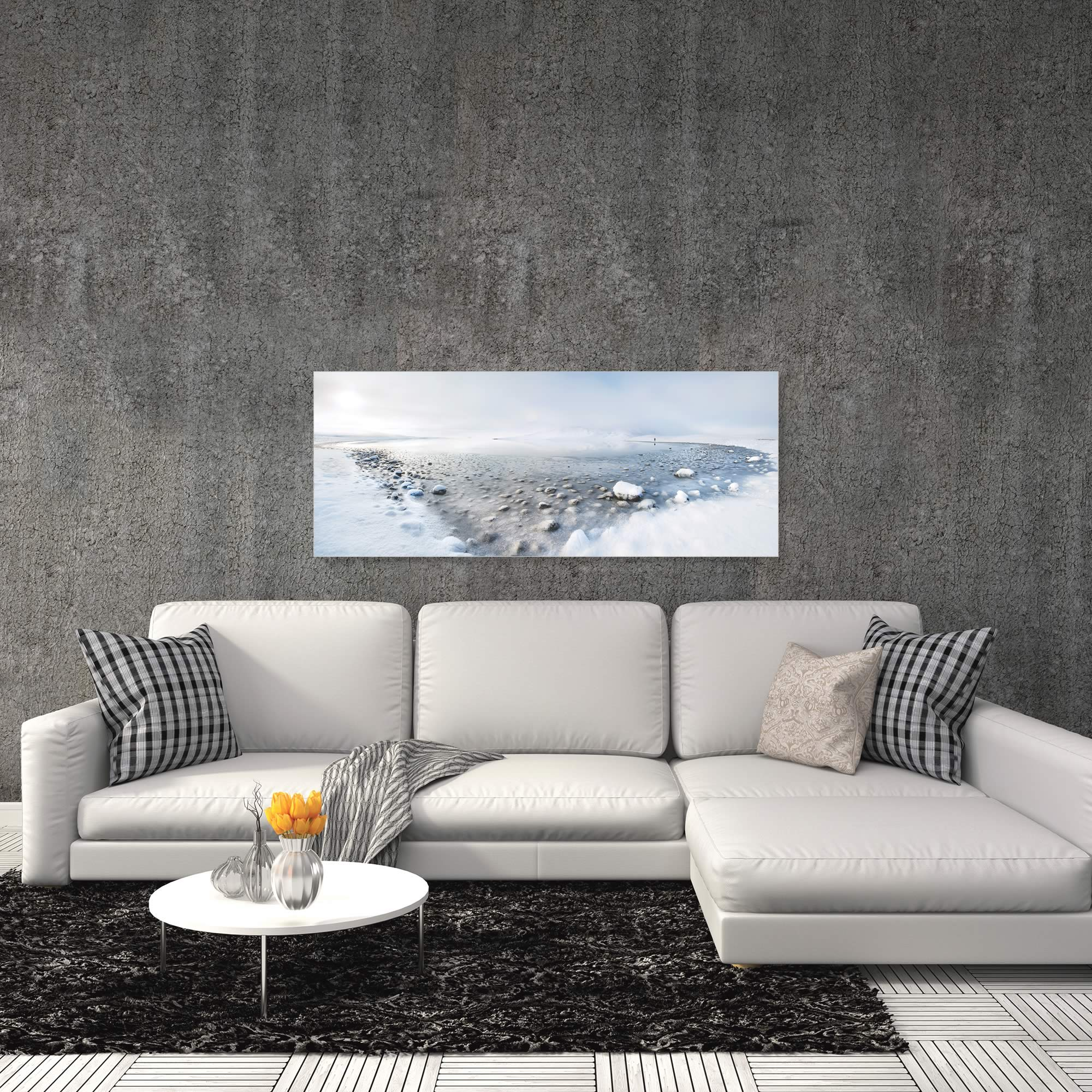Alone in the Silence by Nicola Molteni - Snowy Landscape Art on Metal or Acrylic - Alternate View 1