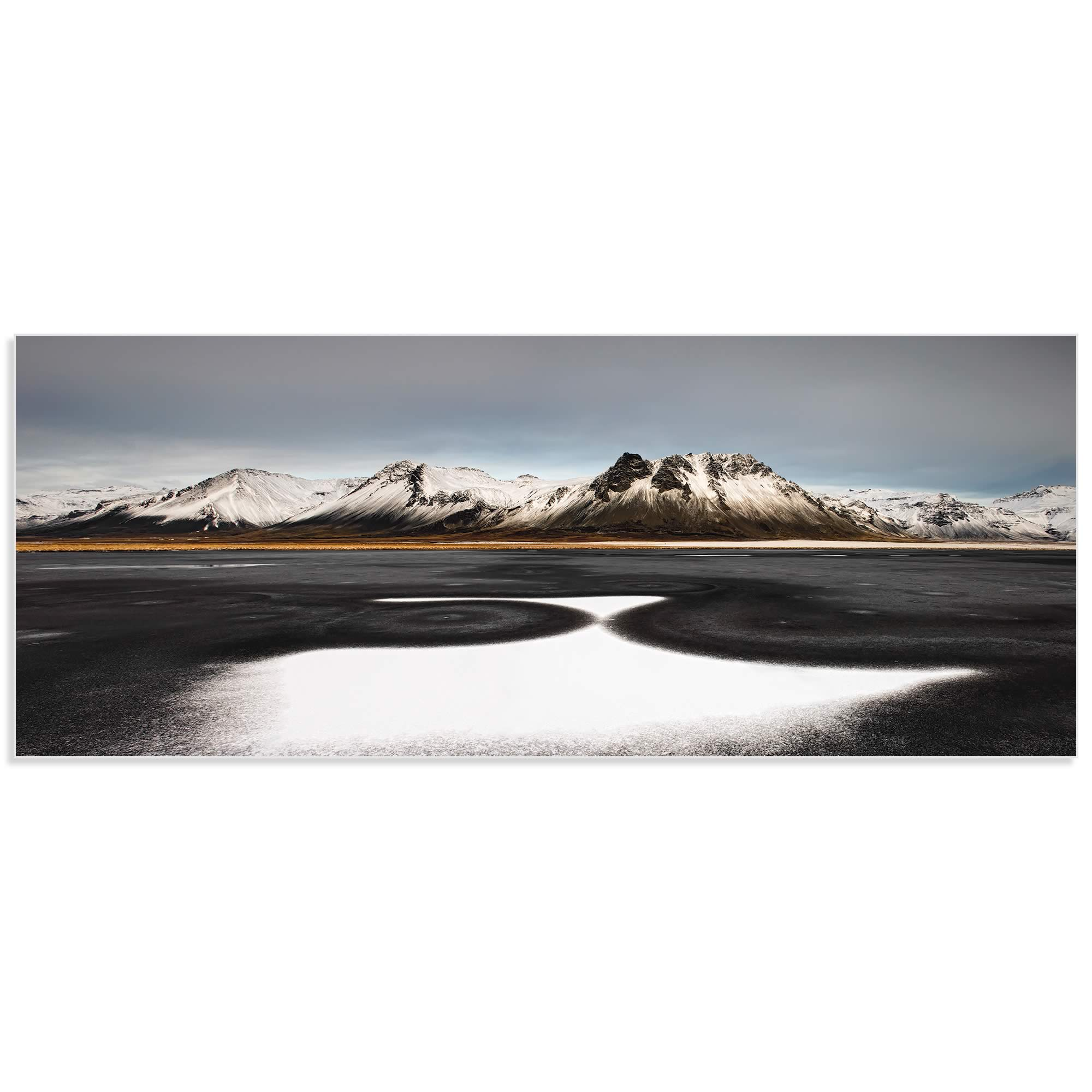 Iceland First Snow by Liloni Luca - Snowy Landscape Art on Metal or Acrylic - Alternate View 2