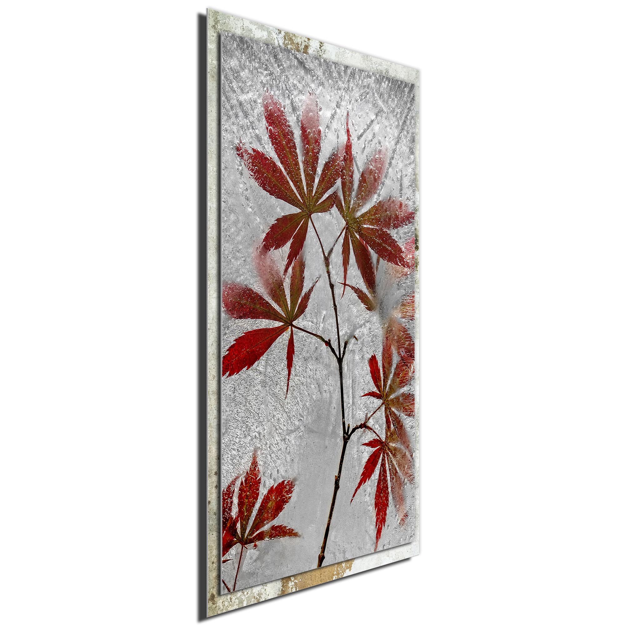 Red Maple by Secundino Losada - Modern Farmhouse Floral on Metal - Image 2