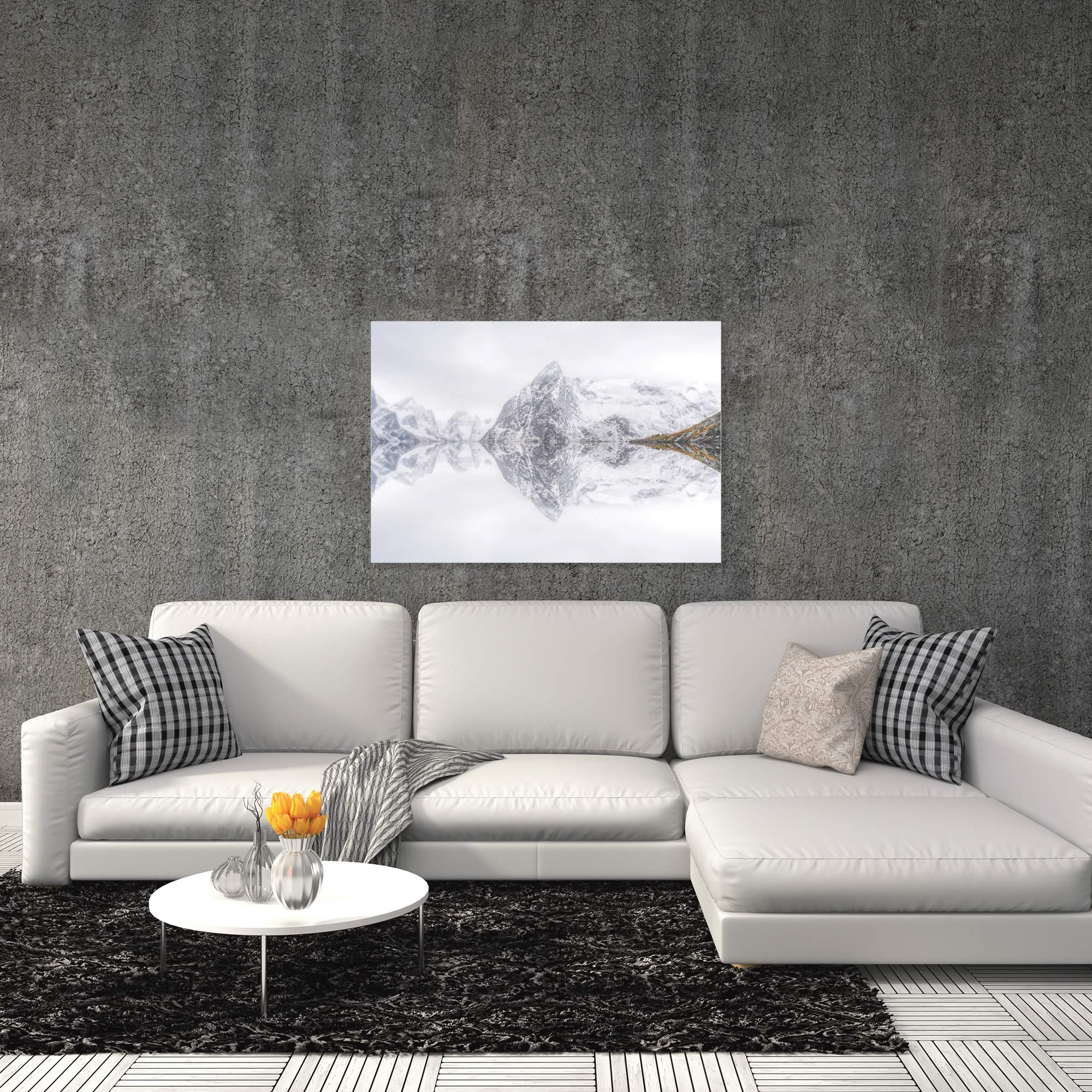 Lofoten Reflection by Ignacio Palacios - Winter Art on Metal or Acrylic - Alternate View 1