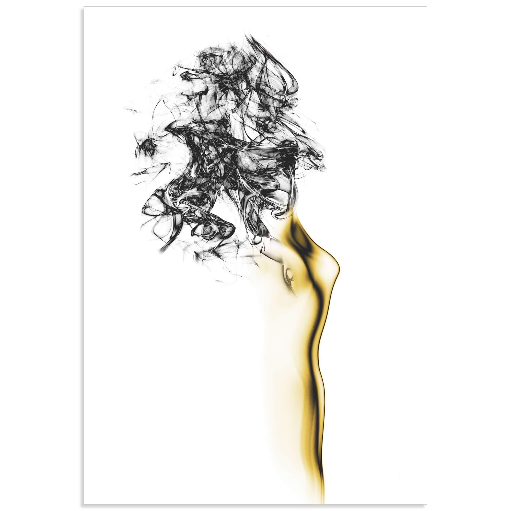 Naked Abstract II by Roberto Marini - Female Figure on Metal or Acrylic