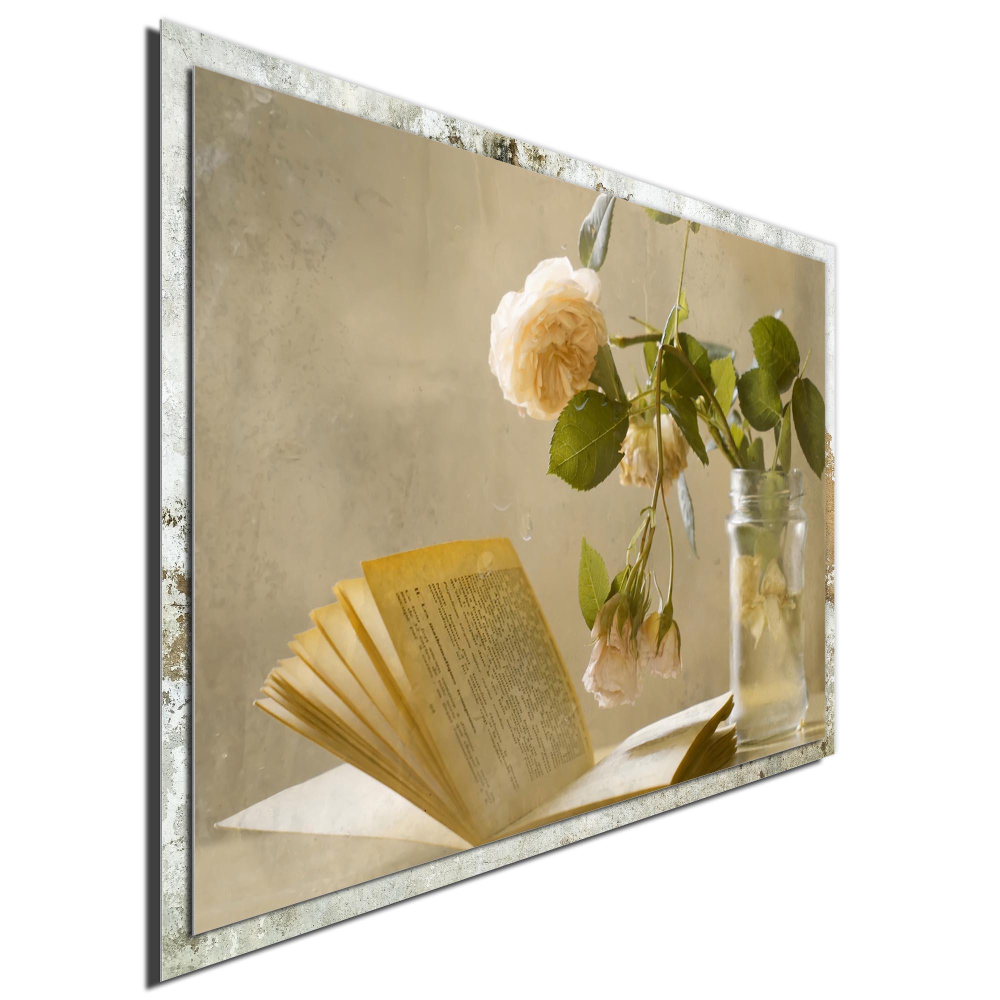 Enjoying a Rainy Day by Delphine Devos - Modern Farmhouse Floral on Metal - Image 2