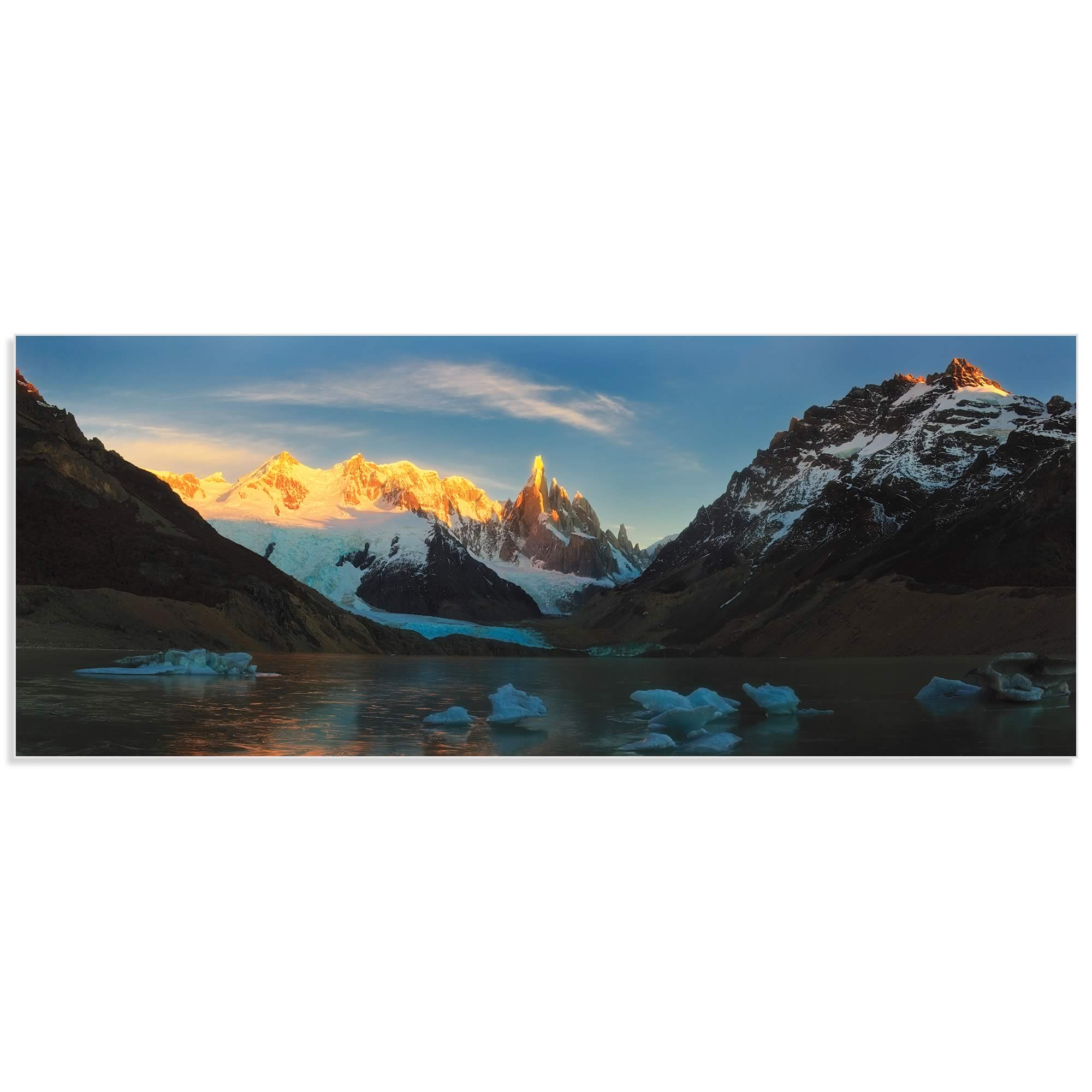 Morning Light at Cerro Torre by Yan Zhang - Mountain Photography on Metal or Acrylic - Alternate View 2